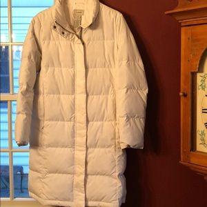 LL Bean goose down 3/4 length coat like new